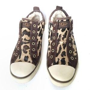 UGG Laela Cheetah Print Sneakers sz 7